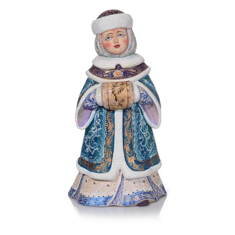 Россия Скульптура из дерева Снегурочка россия ёлочная игрушка снегурочка морозные узоры