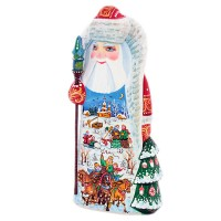 Россия Скульптура из дерева Дед Мороз (300) скульптура дед мороз 9