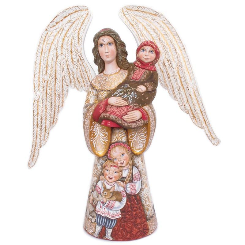 """Скульптура """"Ангел с детьми"""" от Наследие"""