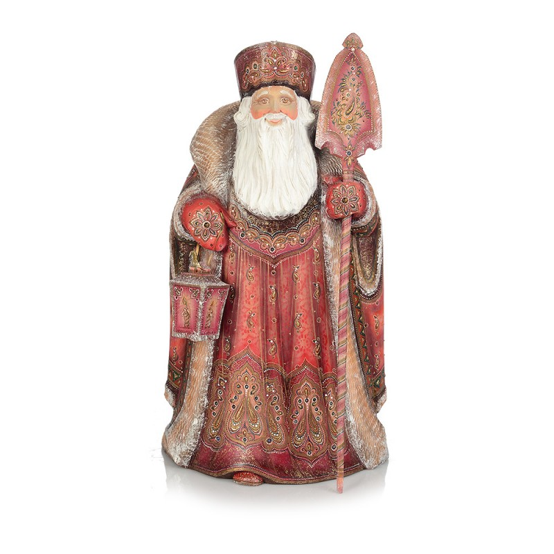 Россия Скульптура из дерева Дед Мороз скульптура дед мороз