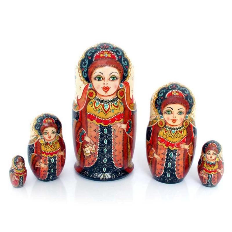 Россия Матрешка 5 мест Царевна