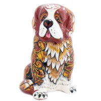 скульптура собака  хохлома