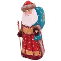 скульптура из дерева Дед мороз 1337173 украшение новогоднее оконное magic time дед мороз с самоваром двустороннее 30 х 32 см