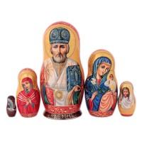 Матрешка Религия. Николай Чудотворец 19 см икона николай чудотворец 19 х 23 5 см