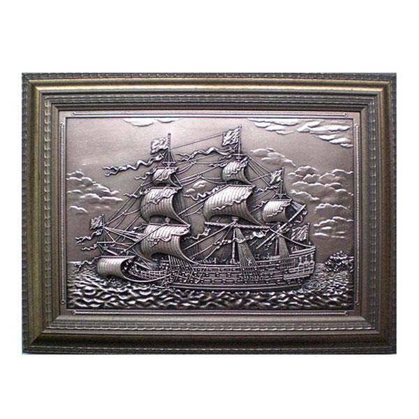 """10-019 Плакетка """"Корабль"""" 28х37 от Наследие"""