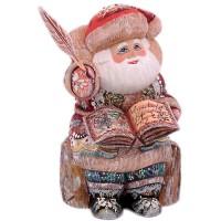 """скульптура """"Дед мороз""""(с книгой и пером)"""