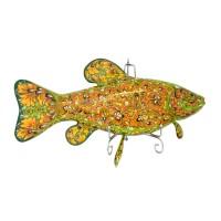 Панно настенное Рыба Линь Хохлома 20 096 панно настенное геккон албезия о бали 20см 899012
