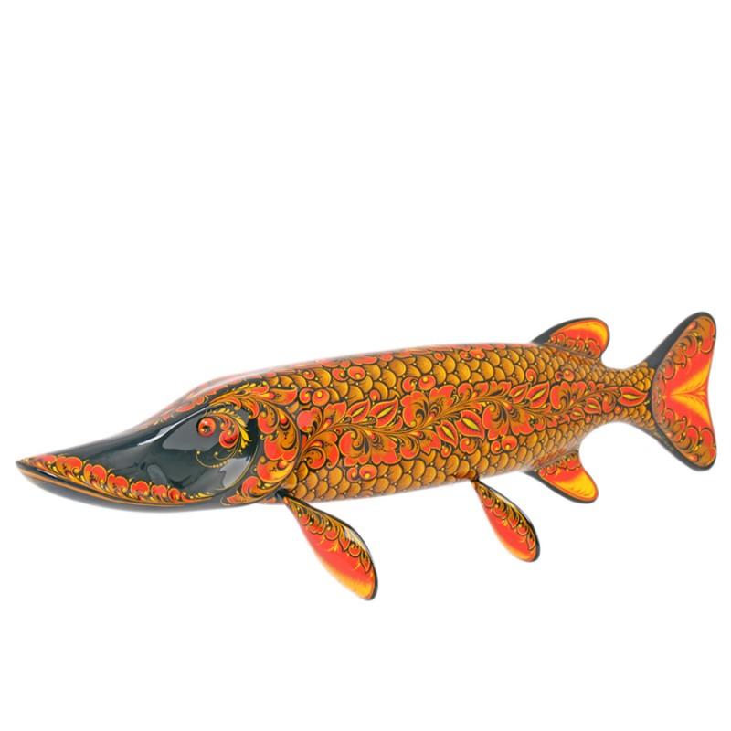 Панно настенное Рыба щука Хохлома купить байдарку щука 3 турин