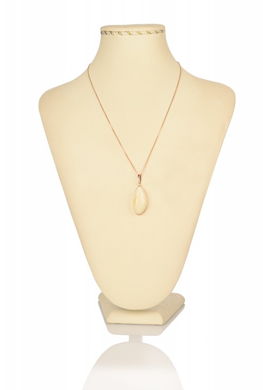 Кулон янтарный (золото) (2,85)