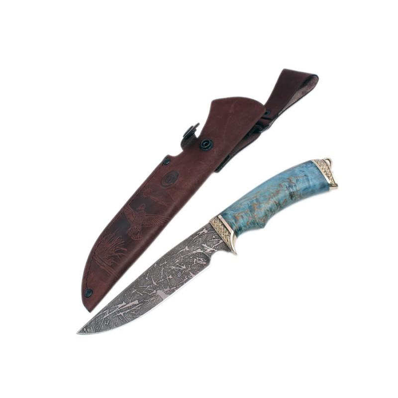 Нож Легионердам.ст.литье, рукоять из стабилизированной карельской березы картина домик с лодкой из карельской березы