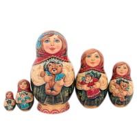 Матрешка 5 мест Игрушки авт.Егорова 15см(1344259) матрешка игрушки 5 мест