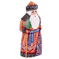 Скульптура из дерева Дед мороз синий.пояс украшение новогоднее оконное magic time дед мороз с самоваром двустороннее 30 х 32 см