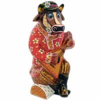 скульптура Бык хохлома