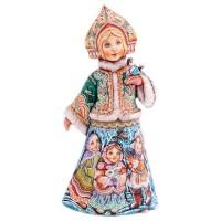 Россия Скульптура из дерева Снегорочка со снегирем дети с кроликом Аксёнова саша аксёнова просто аксёнова стихи