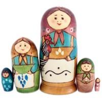 матрешка первая русская 5 мест mv53-fr01