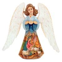 Россия Скульптура из дерева Ангел (расписная) 34см(1338972) сказки дерева подвеска ангел на луне