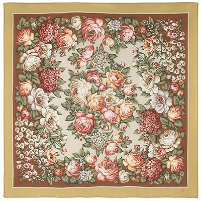Павловопосадский платок шелковый (крепдешин)