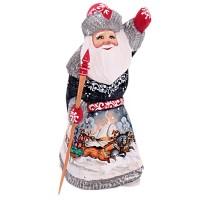 скульптура из дерева Дед мороз 1337171 украшение новогоднее оконное magic time дед мороз с самоваром двустороннее 30 х 32 см