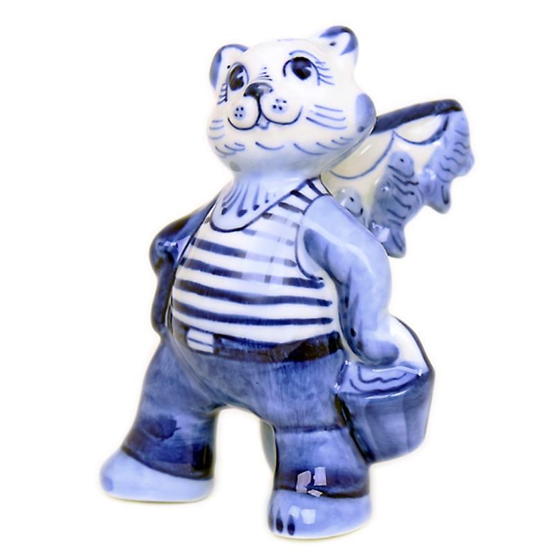 Скульптура Кот-рыбак россия скульптура кот гармонист