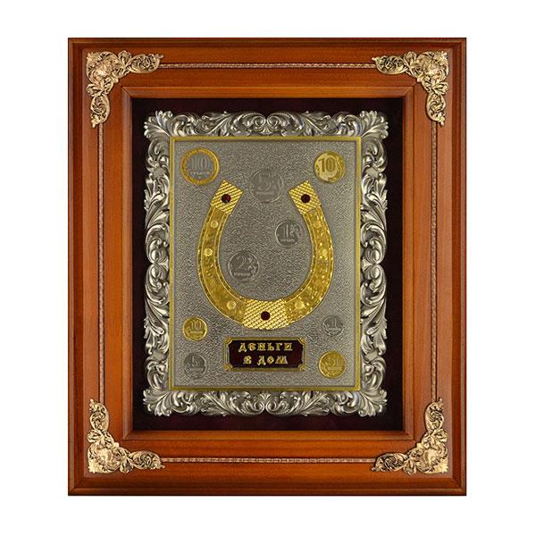 14-163 Деревянное панно Подкова (золочение) medallion colorful beaded drop earrings