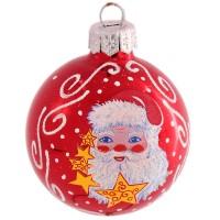 ёлочная игрушка шар 3 мороз 1482 россия ёлочная игрушка снегурочка морозные узоры