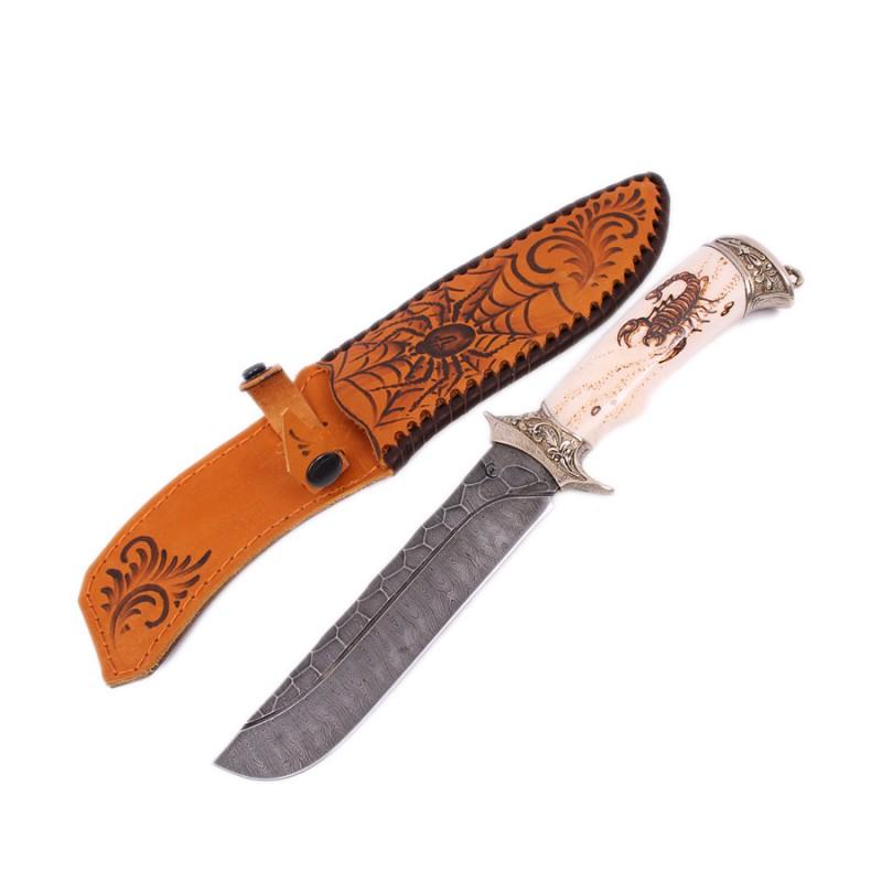 """Нож """"Варяг"""" дам.ст.,литье""""скорпион""""кость от Наследие"""