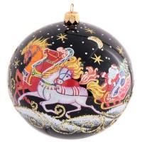 ёлочная игрушка шар 7 Новогодняя тройка С1574 россия ёлочная игрушка снегурочка морозные узоры