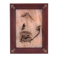 Картина Лягушка на камне бронза 43 028 фигурка лягушка бронза о бали