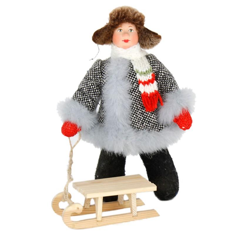 Кукла А2-16 Мальчик с санками