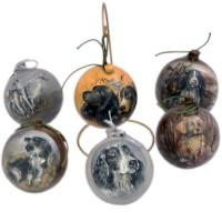 Ёлочная игрушка Шарик с собаками Большой елочные украшения русские подарки игрушка ёлочная домик