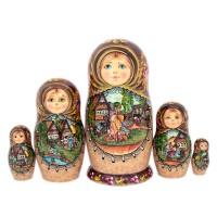 Россия Матрешка Деревенька 3 5 мест конструктор дерево кря dk 011 деревенька 5