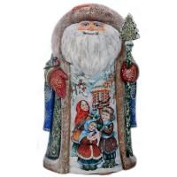 Скульптура из дерева Дед мороз_451 украшение новогоднее оконное magic time дед мороз с самоваром двустороннее 30 х 32 см
