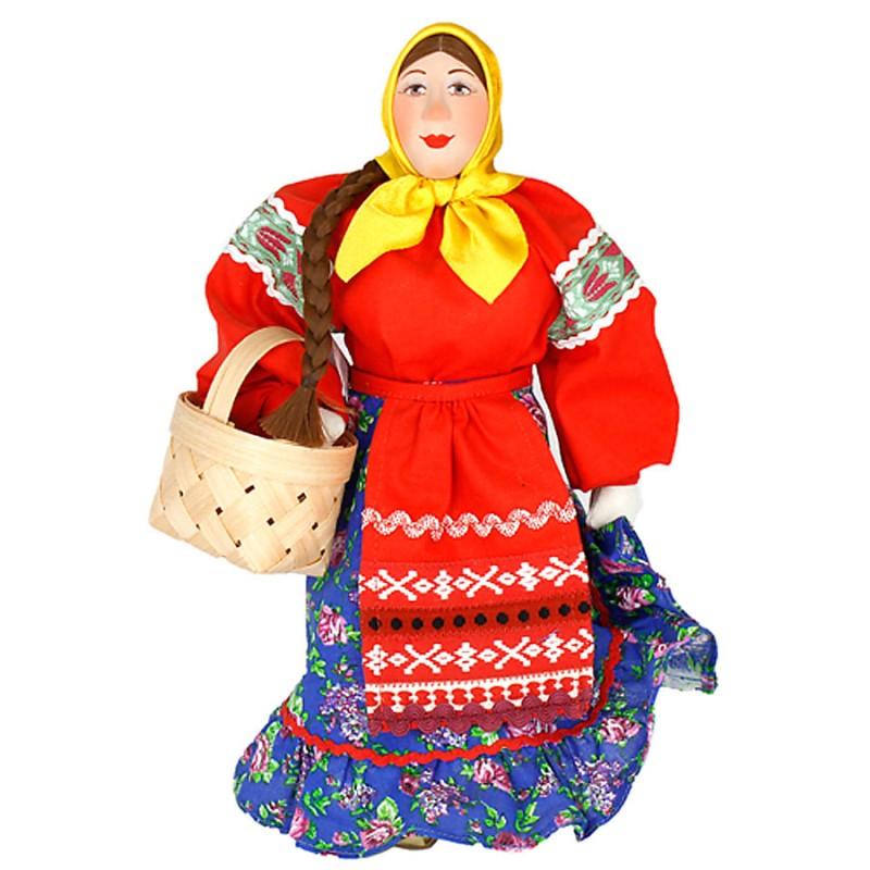 Россия Кукла А2-5 Марья с лукошком костюм марья искусница
