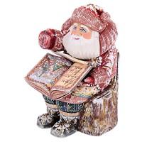 """скульптура из дерева """"Дед мороз"""" с книгой"""