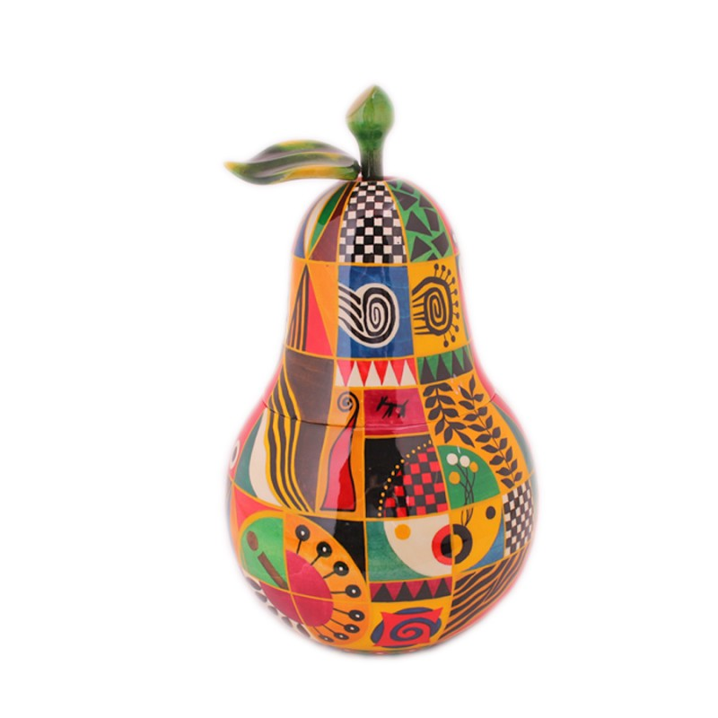 Шкатулка - груша (декоративная роспись)