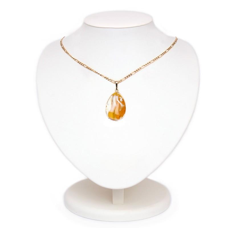 Кулон янтарный (золото 585)