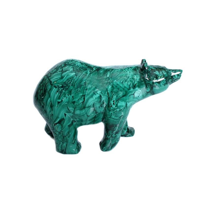 Медведь малахит (80) набор черный кофе малахит