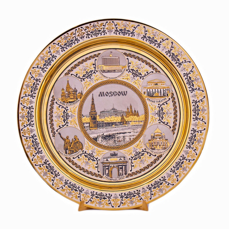 1011-2 Блюдо Виды Москвы на подст. 280мм topperr 1011 ex 2