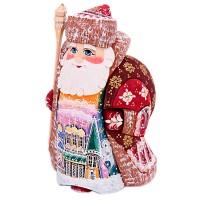 скульптура из дерева Дед мороз рис.церковь украшение новогоднее оконное magic time дед мороз с самоваром двустороннее 30 х 32 см