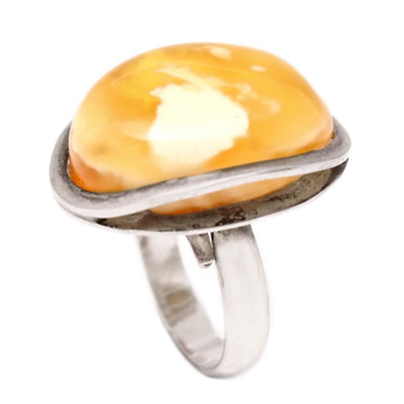 Кольцо янтарное Ag925 (5,7)