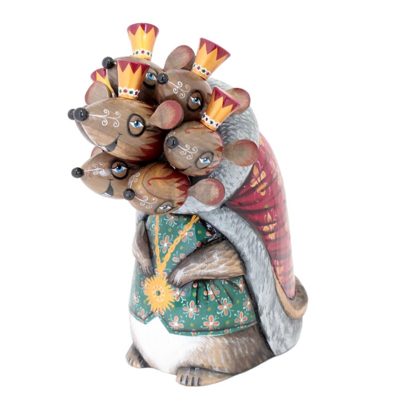 """Скульптура из дерева """"Мышиный король"""" авт. Мельникович 18см"""