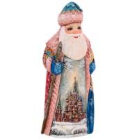 Скульптура из дерева Дед мороз 1353248 украшение новогоднее оконное magic time дед мороз с самоваром двустороннее 30 х 32 см