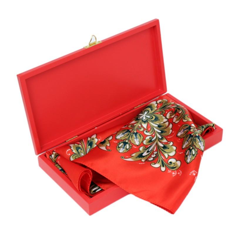Подарочный набор Рождественская звезда Павловопосадский платок Идиллия в шкатулке bauer
