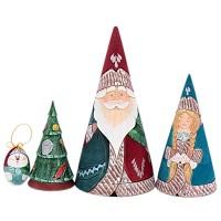 матрешка Дед мороз конус 4 места украшение новогоднее оконное magic time дед мороз с самоваром двустороннее 30 х 32 см