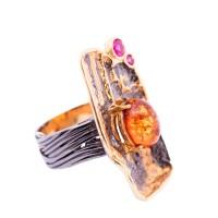 Кольцо янтарное 820901 10,70
