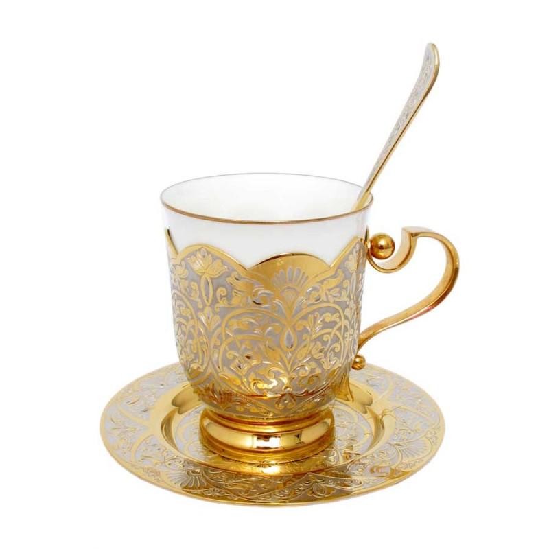 308 Чашка, ложка, блюдце (фарфор)