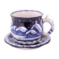 Россия Чайная пара Рождество Гжель