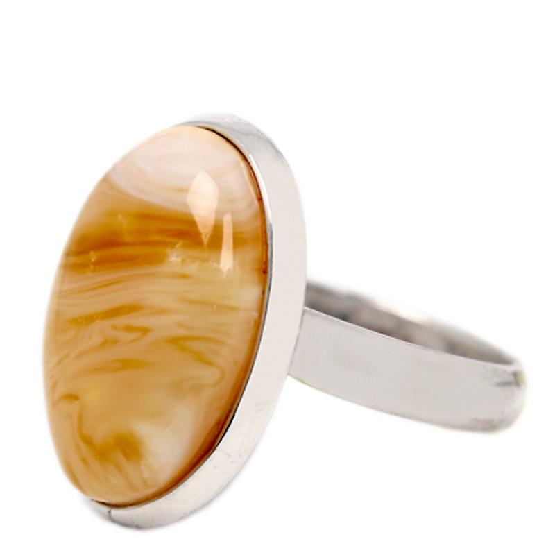 Кольцо Ag925 вст.янтарь (6,4)