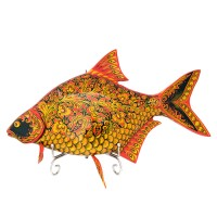 Панно настенное Рыба Лещ Хохлома 20 096 панно настенное геккон албезия о бали 20см 899012