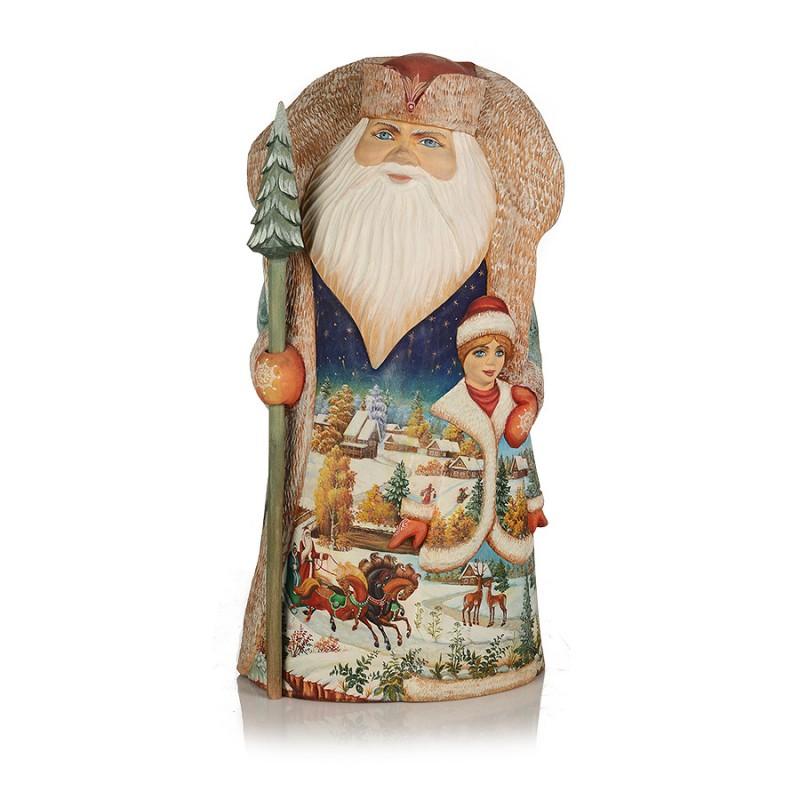 Россия Скульптура из дерева Дед Мороз